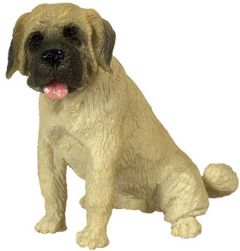 Dollhouse Miniature Sitting Mastiff