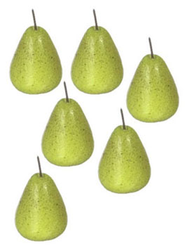 Dollhouse Miniature Pear 6Pcs