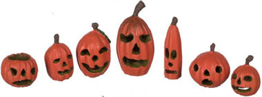 Dollhouse Miniature Halloween Pumpkin, Set Of 7