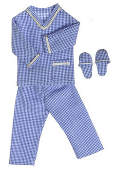 Dollhouse Miniature Men's Pajama with Slippers