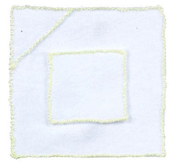 Dollhouse Miniature Baby Blanket/Yellow