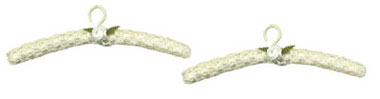 Dollhouse Miniature Lace Hanger, Beige, 2Pc