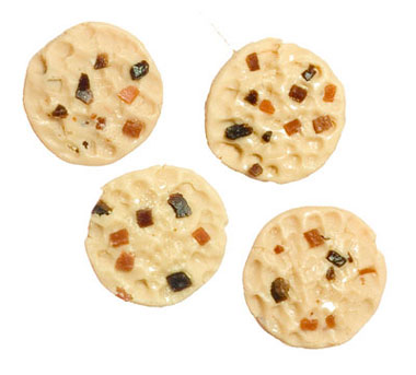 Dollhouse Miniature Chocolate Chip Cookies, 4Pc