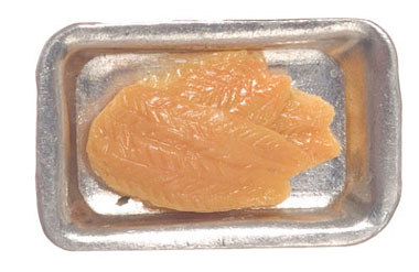 Dollhouse Miniature Salmon Filet, 2 Trays