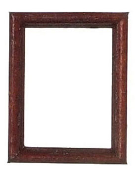Dollhouse Miniature Wooden Frame  2.2X2.8Cm/Mahogany/2Pc