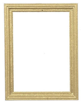 Dollhouse Miniature Wooden Frame 6.7X8.9Cm,Gold, 2Pcs