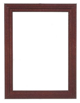 Dollhouse Miniature Wooden Frame 6.7X8.9Cm, Mahogany, 2Pcs