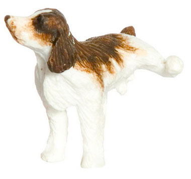"Dollhouse Miniature Naughty Spaniel 1/2"" Brown"