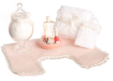 Dollhouse Miniature Bathroom Accessories