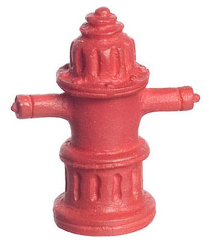 Dollhouse Miniature Fire Hydrant, 1/2In