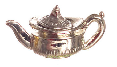 Dollhouse Miniature Tea Pot, Silver