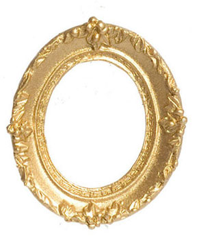 Dollhouse Miniature Oval Picture Frame, Small