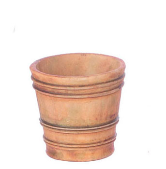 Dollhouse Miniature French Country Pot, L, 2Pc, Aged