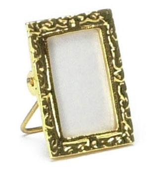 Dollhouse Miniature Rectangular Picture Frame 24K Gold plated