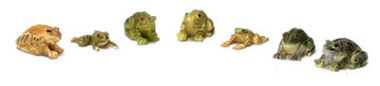Dollhouse Miniature Frogs/Set Of 7