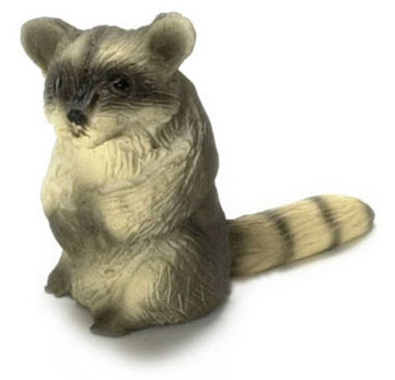 Dollhouse Miniature Ringtail Raccoon