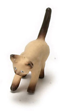 Dollhouse Miniature Kitten, Siamese Brown