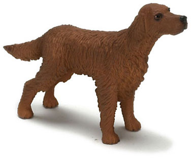 Dollhouse Miniature Irish Setter