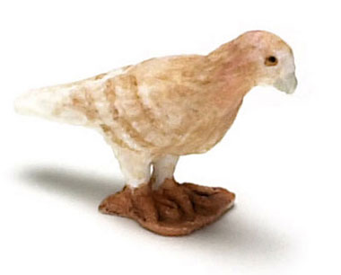 Dollhouse Miniature Pigeon, Brown