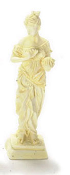 Dollhouse Miniature Goddess/2.25In Height/Ivory/1Pc