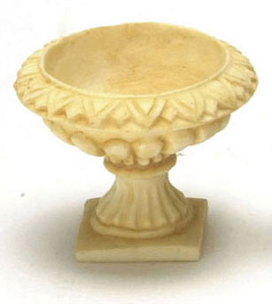 Dollhouse Miniature Victorian Urn 6Pcs Tan