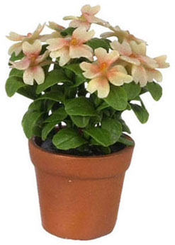 Dollhouse Miniature Azalea In Pot