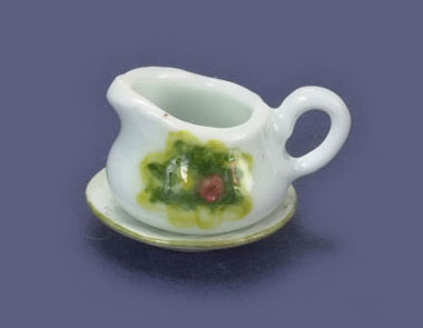 Dollhouse Miniature Gravy Bowl & Saucer