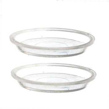 Dollhouse Miniature Pie Pan Set: 2-9In Clear Pans