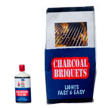 Dollhouse Miniature Charcoal Briquettes W/Light