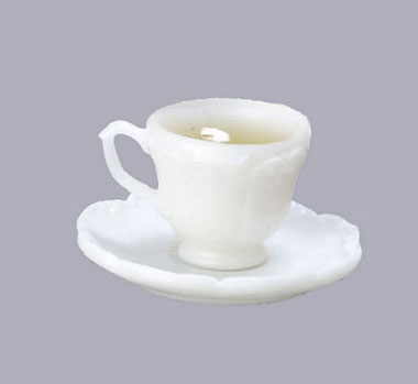 Dollhouse Miniature Cup of Coffee with Saucer and Spoon ~ CB172