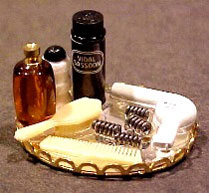 Dollhouse Miniature Deluxe Hair Care Tray