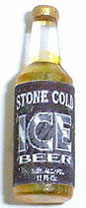 Dollhouse Miniature Stone Cold Ice Beer