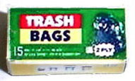 Dollhouse Miniature Trash Bags - Box
