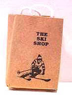 Dollhouse Miniature The Ski Shop Shopping Bag
