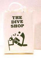 Dollhouse Miniature The Dive Shop  Shopping Bag