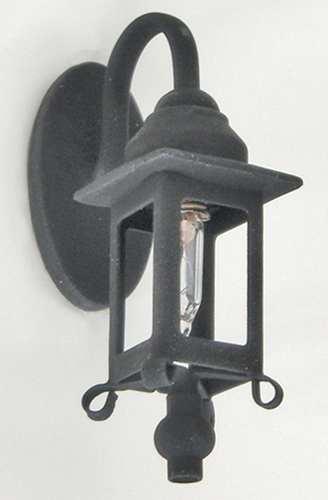 Dollhouse Miniature Black Coach Wall Lamp