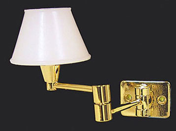 Dollhouse Miniature Foldaway Wall Lamp