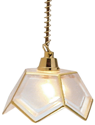 Dollhouse Miniature 5-Panel Hanging Lamp