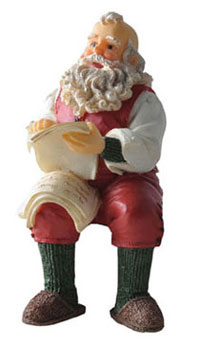Dollhouse Miniature Sitting Santa