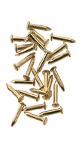 Dollhouse Miniature Solid Brass Pointed Nails 100Pc