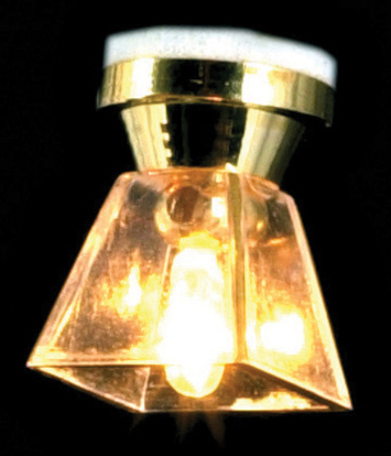 Dollhouse Miniature Clear Square Ceiling Lamp
