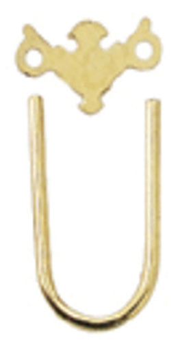 Dollhouse Miniature Sm Chippendale Brass Plate/Bail, 12/Pk
