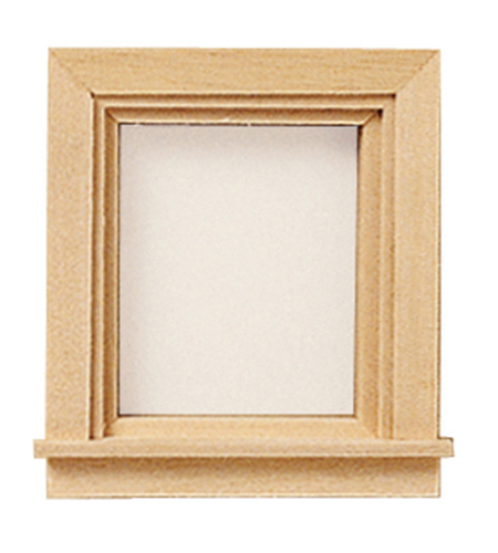 Dollhouse Miniature Traditional Single Light Window