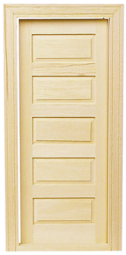 Dollhouse Miniature 5-Panel Traditional Interior Door