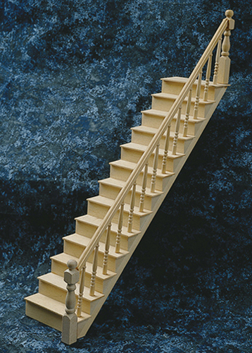 Dollhouse Miniature Staircase Kit 14 L X 3-3/16 W