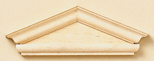Dollhouse Miniature Hooded Pediment