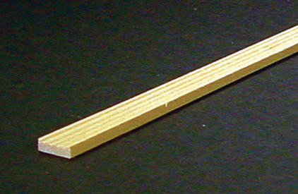 Dollhouse Miniature Grooved Window Trim, 24 In. Long