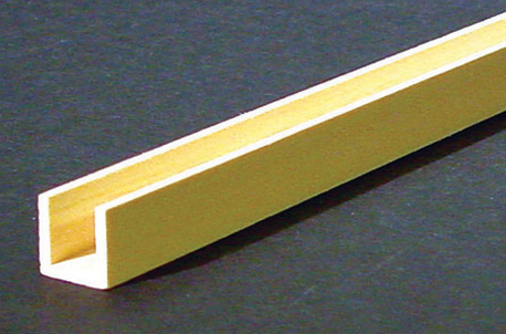 Dollhouse Miniature  Channel Molding 1/2 In, 2/Pk
