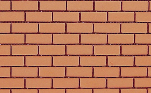 Dollhouse Miniature Mesh Mounted Common Brick