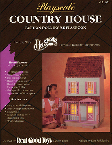 Dollhouse Miniature Playscale: Country House Plan book